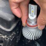 プリウス30ハロゲンヘッドライトを日本製LEDバルブに交換して車検合格!